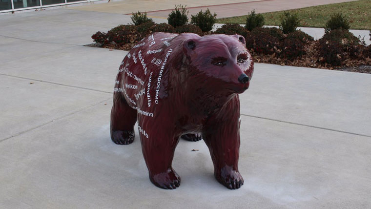 Missouri State welcome bear statue